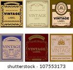 set of vintage labels   Shutterstock .eps vector #107553173