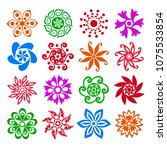 set of abstract flowers ... | Shutterstock .eps vector #1075533854