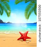 seascape vector illustration.... | Shutterstock .eps vector #107553500