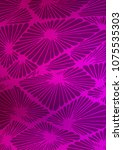 light purple doodle blurred... | Shutterstock . vector #1075535303