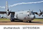 Small photo of Columbus AFB, Mississippi - April 20, 2018: A U.S. Air Force C-130 Hercules cargo plane operated by the 314th Airlift Wing out of Little Rock Air Force Base.Columbus AFB, Mississippi - April 20, 2018: