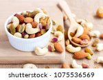 dried fruits and variety of... | Shutterstock . vector #1075536569