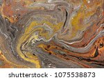 marble abstract acrylic... | Shutterstock . vector #1075538873