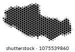 halftone circle tibet chinese... | Shutterstock .eps vector #1075539860