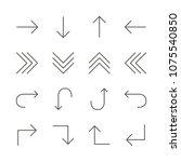 arrows set icon vector. line...