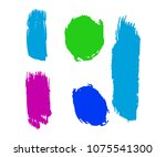 collection of hand drawn... | Shutterstock .eps vector #1075541300