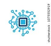 chip network logo icon design | Shutterstock .eps vector #1075552919