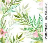 floral seamless pattern with... | Shutterstock . vector #1075568810