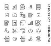 set of freelance thin line...   Shutterstock .eps vector #1075570619