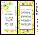 romantic invitation. wedding ... | Shutterstock . vector #1075576220