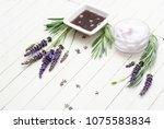 cosmetic cream  soft soap and...   Shutterstock . vector #1075583834