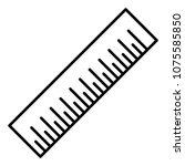 line precision centimeter... | Shutterstock .eps vector #1075585850