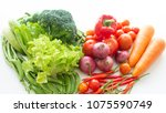 healthy food vegetables and... | Shutterstock . vector #1075590749
