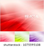 fractal abstract background... | Shutterstock .eps vector #1075595108