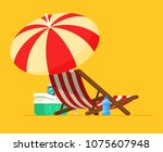 vacation and travel concept.... | Shutterstock .eps vector #1075607948