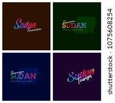 tourism sudan typography logo... | Shutterstock .eps vector #1075608254