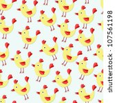 seamless vector pattern with... | Shutterstock .eps vector #107561198