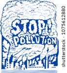 stop pollution  sketch   Shutterstock .eps vector #1075612880