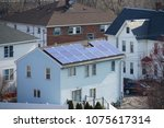 solar panel installed on the... | Shutterstock . vector #1075617314