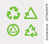 recycled cyclegreen arrows... | Shutterstock .eps vector #1075620479