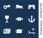 premium set with fill icons.... | Shutterstock .eps vector #1075621790