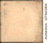 abstract texture of old beige...   Shutterstock . vector #1075622804