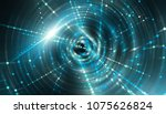 abstract blue background with... | Shutterstock . vector #1075626824