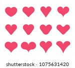 12 simple heart shapes | Shutterstock .eps vector #1075631420
