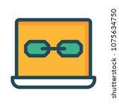 link url browser  | Shutterstock .eps vector #1075634750