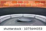 sewage hatch illustration....   Shutterstock .eps vector #1075644353