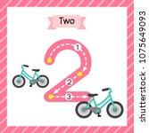 cute children flashcard number...   Shutterstock .eps vector #1075649093