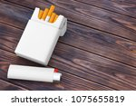 white pocket lighter near... | Shutterstock . vector #1075655819