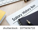 documents with title salary... | Shutterstock . vector #1075656710