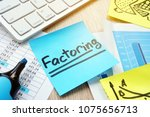 stick with word factoring on a... | Shutterstock . vector #1075656713