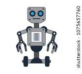 robot technology cartoon | Shutterstock .eps vector #1075657760