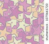 seamless editable pattern.... | Shutterstock .eps vector #1075661720