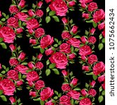 seamless floral pattern with... | Shutterstock .eps vector #1075662434