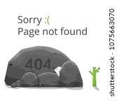 404 error page not found... | Shutterstock .eps vector #1075663070