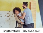 sexual abuse and violation on a ... | Shutterstock . vector #1075666460