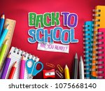 back to school vector design... | Shutterstock .eps vector #1075668140