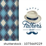 happy fathers day greeting card ... | Shutterstock .eps vector #1075669229