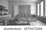 unfinished project of... | Shutterstock . vector #1075672340