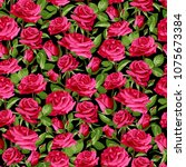 seamless floral pattern with... | Shutterstock .eps vector #1075673384