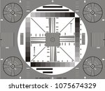 television test card or pattern.... | Shutterstock .eps vector #1075674329