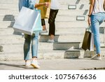 group of young asian woman... | Shutterstock . vector #1075676636
