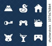 premium set with fill icons.... | Shutterstock .eps vector #1075676864