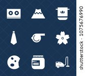 premium set with fill icons.... | Shutterstock .eps vector #1075676990