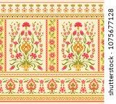 floral ornamental pattern in... | Shutterstock .eps vector #1075677128