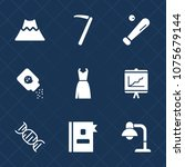 premium set with fill icons.... | Shutterstock .eps vector #1075679144