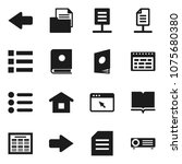 flat vector icon set   book...